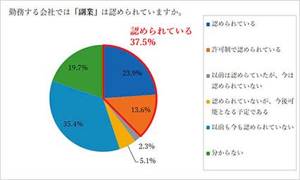 副業容認円グラフ